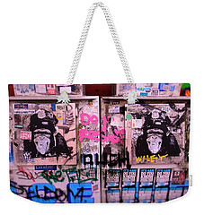 A Wiley The Monkey Mural In New York  Weekender Tote Bag by Funkpix Photo Hunter