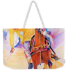 A Win Weekender Tote Bag by Khalid Saeed