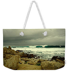 Weekender Tote Bag featuring the photograph A Winter Day At The Beach by Joyce Dickens