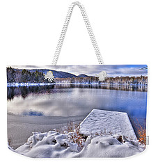 Weekender Tote Bag featuring the photograph A Winter Day On West Lake by David Patterson
