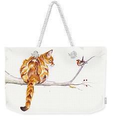 A Winter Meeting Weekender Tote Bag by Debra Hall