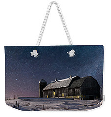 A Winter Night On The Farm Weekender Tote Bag by Judy Johnson