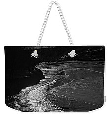 A Winter River Weekender Tote Bag
