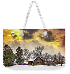 A Winter Sky Weekender Tote Bag
