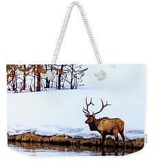 A Winter Wade Weekender Tote Bag