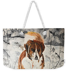 A Winter Walk Weekender Tote Bag by Betty-Anne McDonald