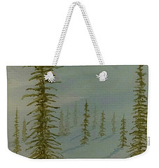 Weekender Tote Bag featuring the painting A Winter Walk by Stacy C Bottoms