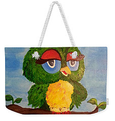 A Wise Bird Weekender Tote Bag