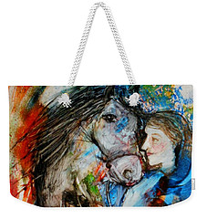 A Woman And Her Horse Weekender Tote Bag