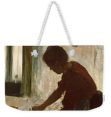 A Woman Ironing Weekender Tote Bag by Edgar Degas