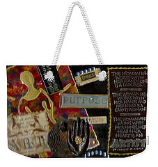 A Woman With Purpose Weekender Tote Bag by Angela L Walker