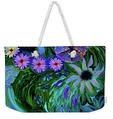 A Womans Touch With Her Flowers Weekender Tote Bag