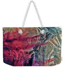 Weekender Tote Bag featuring the digital art A World Beyond by Linda Sannuti