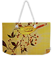 A Wren - In Pastel  Weekender Tote Bag