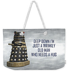 A Wrinkly Old Man Who Just Needs A Hug Weekender Tote Bag