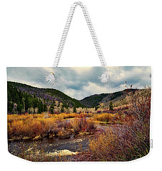 A Wyoming Autumn Day Weekender Tote Bag by L O C