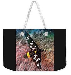 A Yellow Belted Burnet Weekender Tote Bag
