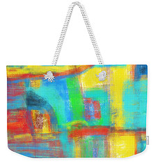 Weekender Tote Bag featuring the painting A Yellow Day by Susan Stone