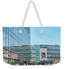 Weekender Tote Bag featuring the photograph Aarhus Lunchtime Canal Scene by Antony McAulay