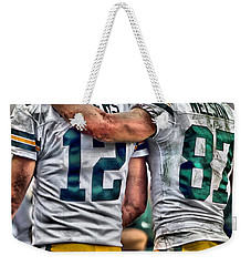Aaron Rodgers Jordy Nelson Green Bay Packers Art Weekender Tote Bag