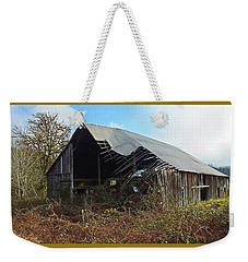 Abandoned Barn In Alsea Weekender Tote Bag