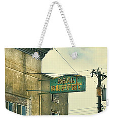 Weekender Tote Bag featuring the photograph Abandoned Building by Jill Battaglia