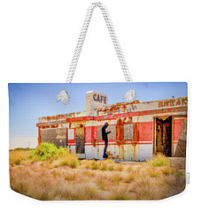 Abandoned Cafe Weekender Tote Bag by David Cote
