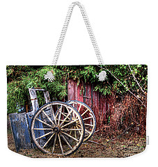 Weekender Tote Bag featuring the photograph Abandoned Cart by Jim and Emily Bush