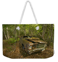 Abandoned Chevelle In Cape Breton Weekender Tote Bag by Ken Morris
