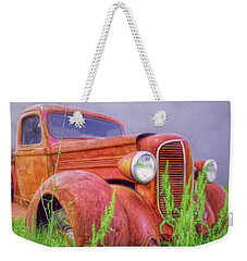 Abandoned Chrysler Truck Weekender Tote Bag by Marion Johnson