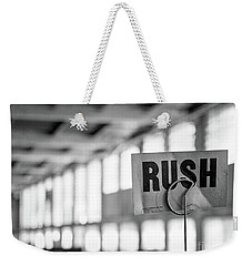 Abandoned Factory, Lewiston, Maine  -48683-bw Weekender Tote Bag