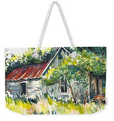 Abandoned Farmhouse In The Ozark Mountains On The Gravel Road To Hawk's Bill Crag At Whitaker Point Weekender Tote Bag