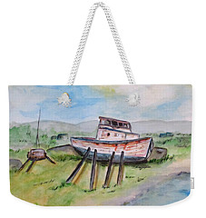 Abandoned Fishing Boat Weekender Tote Bag by Clyde J Kell
