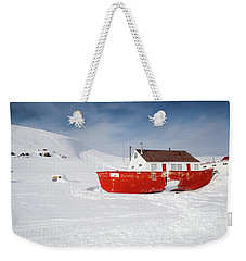 Abandoned Fishing Boat Weekender Tote Bag by Nick Mares