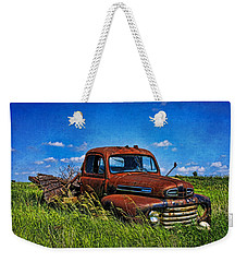 Abandoned Ford Truck In The Prairie Weekender Tote Bag