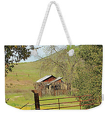 Weekender Tote Bag featuring the photograph Abandoned Homestead by Art Block Collections