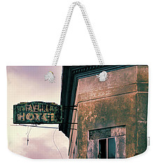 Weekender Tote Bag featuring the photograph Abandoned Hotel by Jill Battaglia