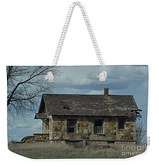 Abandoned Kansas Stone House Weekender Tote Bag by Mark McReynolds