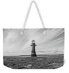 Weekender Tote Bag featuring the photograph Abandoned Light House Whiteford by Edward Fielding