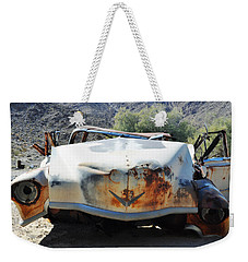 Weekender Tote Bag featuring the photograph Abandoned Mojave Auto by Kyle Hanson