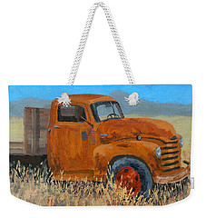 Abandoned Orange Chevy Weekender Tote Bag