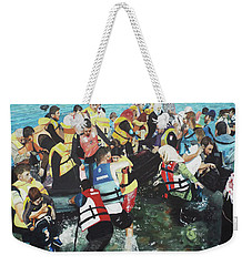 Weekender Tote Bag featuring the painting Abandoned Souls by Eric Kempson