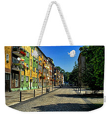 Weekender Tote Bag featuring the photograph Abandoned Street by Mariola Bitner