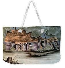 Weekender Tote Bag featuring the drawing Abandoned by Terri Mills
