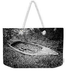 Weekender Tote Bag featuring the photograph Abandoned Wooden Boat Alaska by Edward Fielding