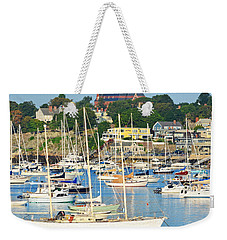 Abbot Hall Over Marblehead Harbor From Chandler Hovey Park Weekender Tote Bag