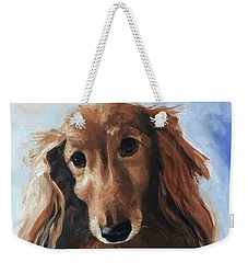 Weekender Tote Bag featuring the painting Abby by Diane Daigle