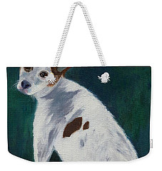 Weekender Tote Bag featuring the painting Abby by Jamie Frier