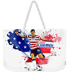 Abby Wambach Weekender Tote Bag by Semih Yurdabak