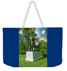 Weekender Tote Bag featuring the photograph Abe Hanging Out by Greg Fortier